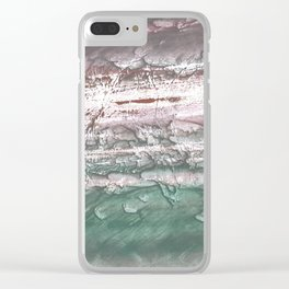 Violet-green cloud Clear iPhone Case