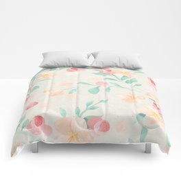 Seamless Pastel Magical Plant Floral Pattern Cute Whimsical Comforters