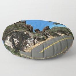 Scenic Bonita Canyon Road Floor Pillow