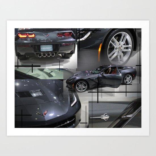 The Corvette Art Print