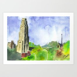 Cathedral of Learning - University of Pittsburgh Art Print