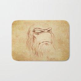 Leonardo's Self Portrait Bath Mat