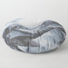 Snowy Mountains of Alberta Floor Pillow