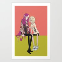 halo Art Prints featuring halo by ♡ SUSHICORE ♡