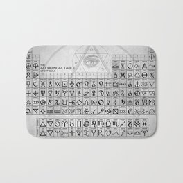 The Alchemical Table Of Symbols Bath Mat