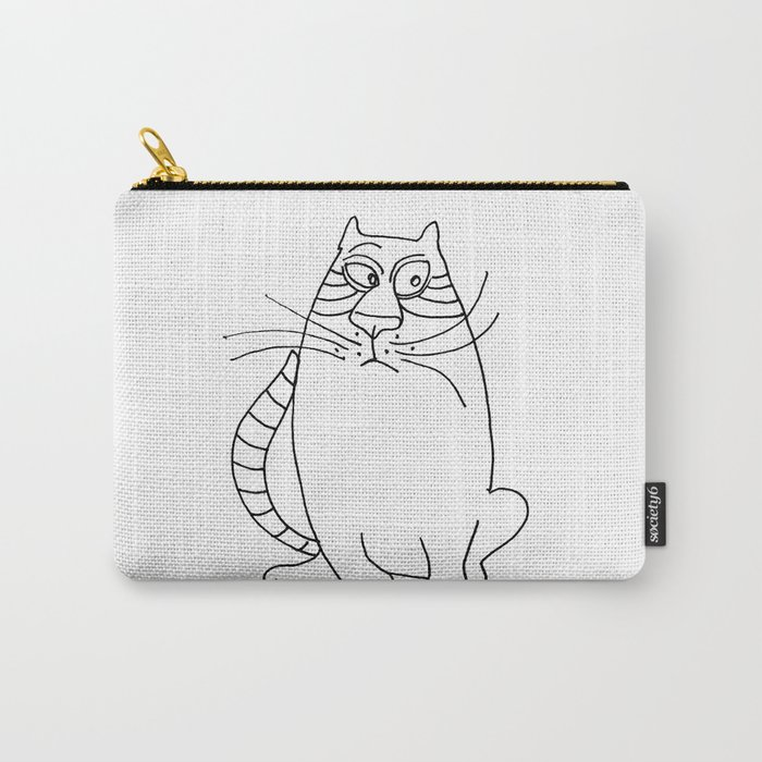 Pensive Cat Carry-All Pouch