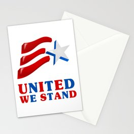 United We Stand - Patriot/Independence Day Stationery Cards