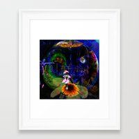 pocket fuel Framed Art Prints featuring Fuel by Joseph Mosley