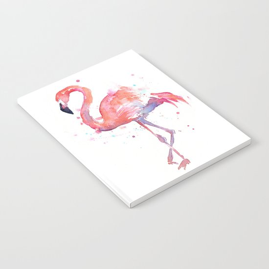 Flamingo Watercolor Notebook