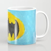 bat Mugs featuring Bat by Marialaura