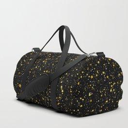 Glitter Stars3 - Gold Black Duffle Bag