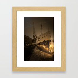 Vintage photography Ship  Framed Art Print