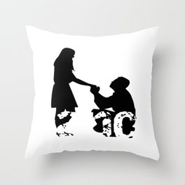 Engaged Fiance Newly Engaged Gift Throw Pillow