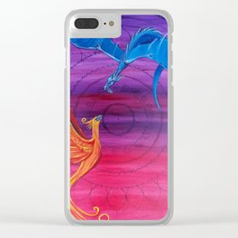 Everlasting Love - Dragon and Phoenix Clear iPhone Case