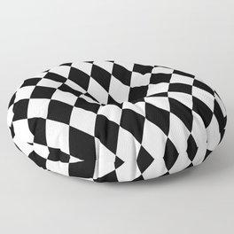 Black and White Liquorice Pattern Floor Pillow