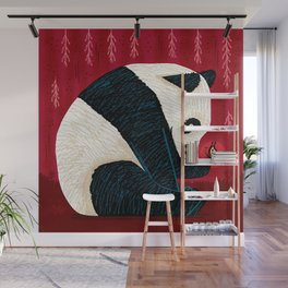 The Panda and the Butterfly Wall Mural