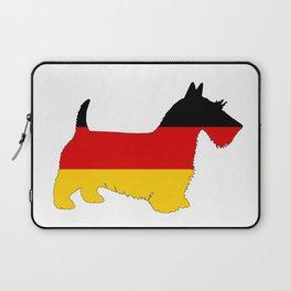 German Flag - Scottish terrier Laptop Sleeve