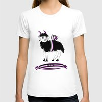 asexual T-shirts featuring Asexual Pride Goat/Sheep by plaguedcoffeebeans