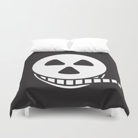 film Duvet Covers featuring Horror Film by Stuart Colebrook