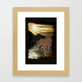 Night of the Cougar Framed Art Print
