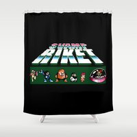 megaman Shower Curtains featuring MegaMan Style by Svampriket