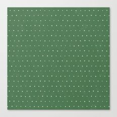 Geo Triangles Avacado Canvas Print