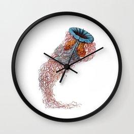 Single Jellyfish on White, Ernst Haeckel  Wall Clock