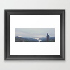 Guide my steps and calm my heart  Framed Art Print