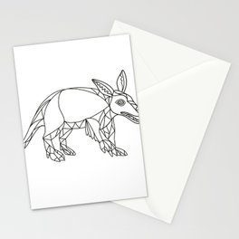 Aardvark Black and White Mono Line Stationery Cards
