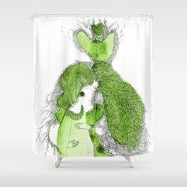I hug myself Shower Curtain
