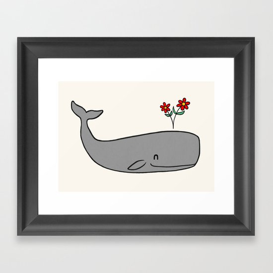 Peace Whale  Framed Art Print