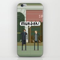 221b iPhone & iPod Skins featuring Sherlock 221B by FuliFuli