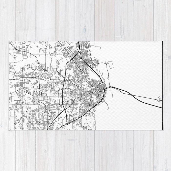 Alabama United States Map.Minimal City Maps Map Of Mobile Alabama United States Rug By