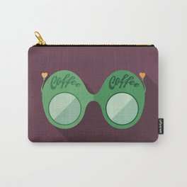 Green Coffee Sunglasses Carry-All Pouch