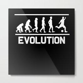 Football Evolution Metal Print
