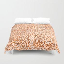 Orange Pieces Duvet Cover