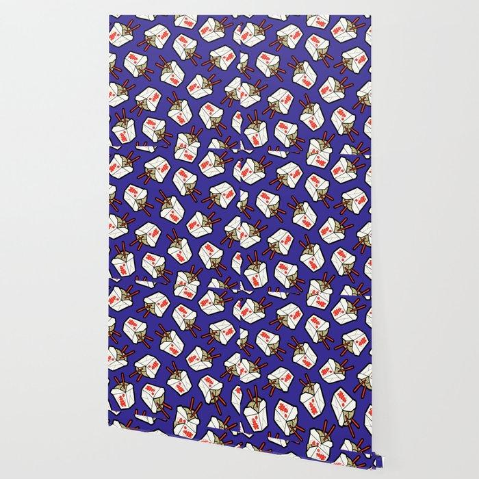 Take-Out Noodles Box Pattern Wallpaper