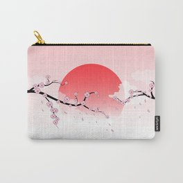 Cherry Blossoms - Pink Carry-All Pouch