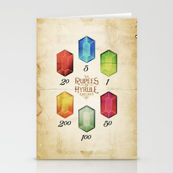 Legend of Zelda - Tingle's The Rupees of Hyrule Kingdom Stationery Cards