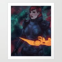 n7 Art Prints featuring N7 by Weissidian