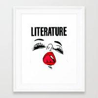 Framed Art Prints featuring Lit Lust by notalkingplz