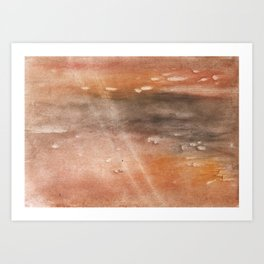Rosy brown abstract Art Print