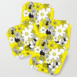 Floral Medley - Yellow Coaster