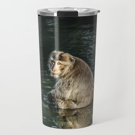 Monkey in the water Travel Mug