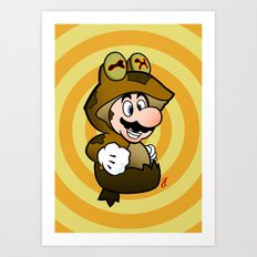 All Glory to the Mario Bros! Art Print