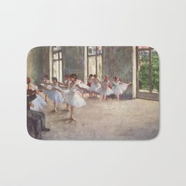 Ballet Rehearsal 1873 By Edgar Degas | Reproduction | Famous French Painter Bath Mat