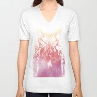 hedwig V-neck T-shirts featuring Hedwig by Erik Sandi Satresa