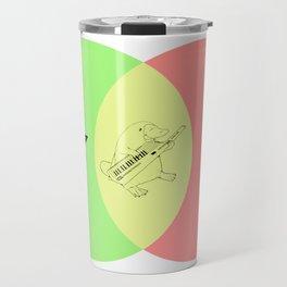 Keytar Platypus Venn Diagram - GYR Travel Mug