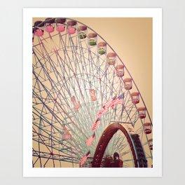 Biggest Wheel in Texas Art Print
