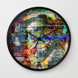I've Watched Far Better Realities Suffer Far Worse (or The Temptations of Goku In The Wilderness) Wall Clock
